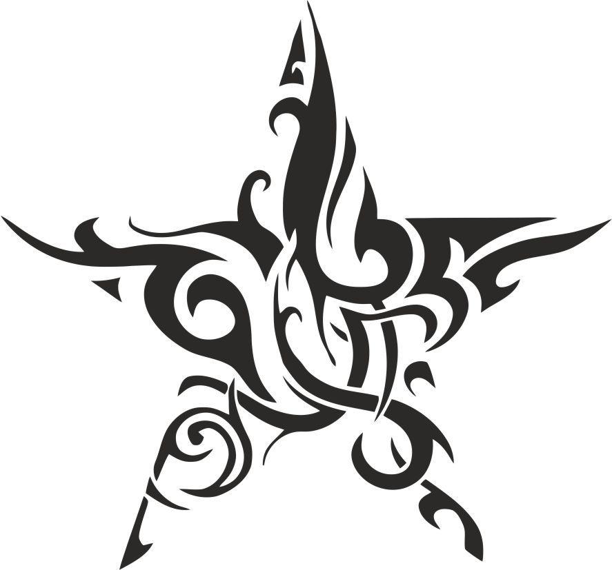 Tribal Stern Star Tattoo Designs Tribal Star Tattoos