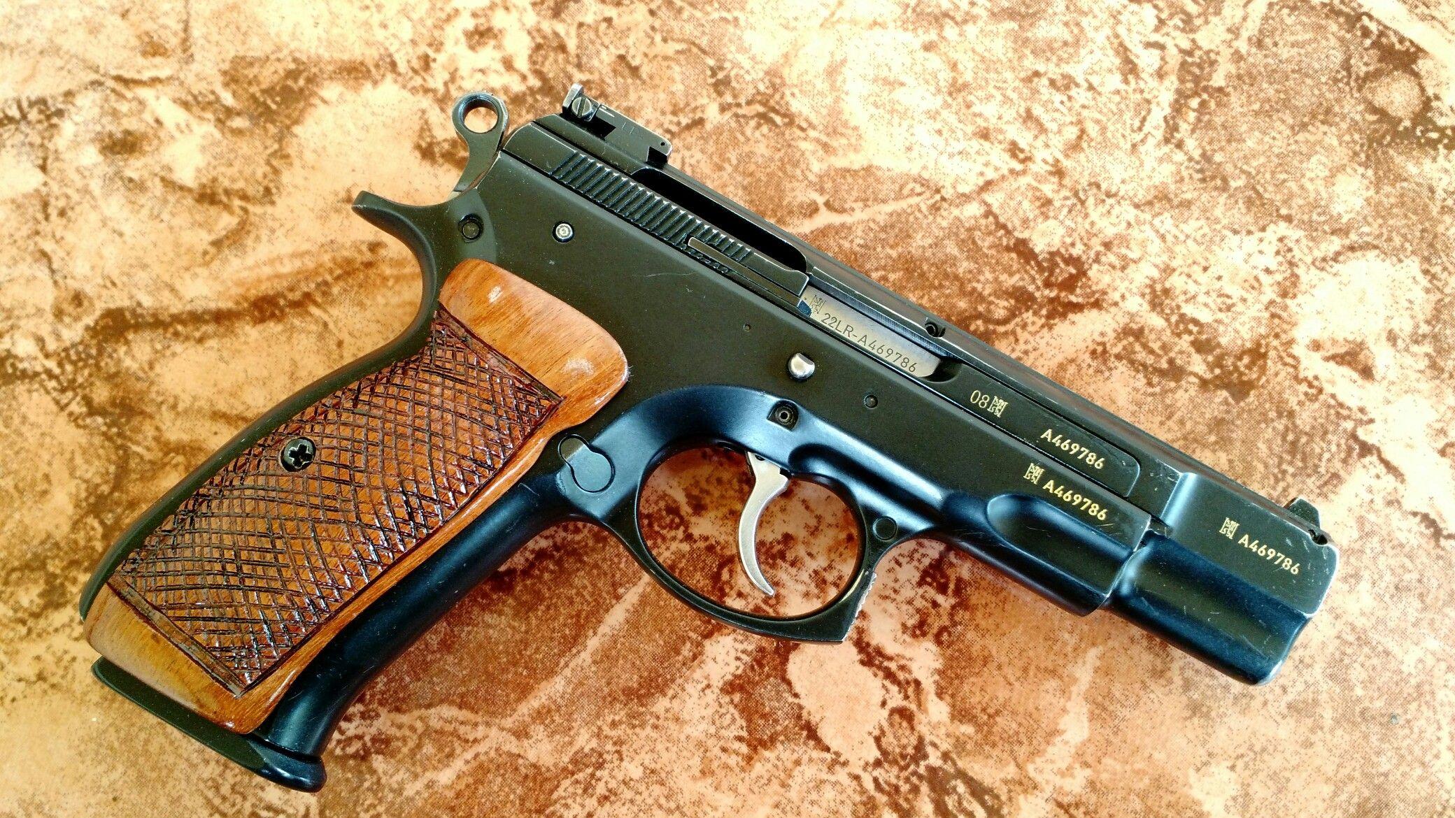 CZ 75 Kadet 22LR + Homemade wood grips   Products I Love   Hand guns