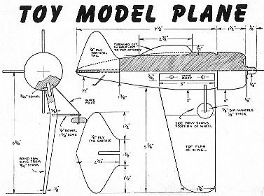 Toy Model Plane The Woodcrafter Page© 2004 Plane