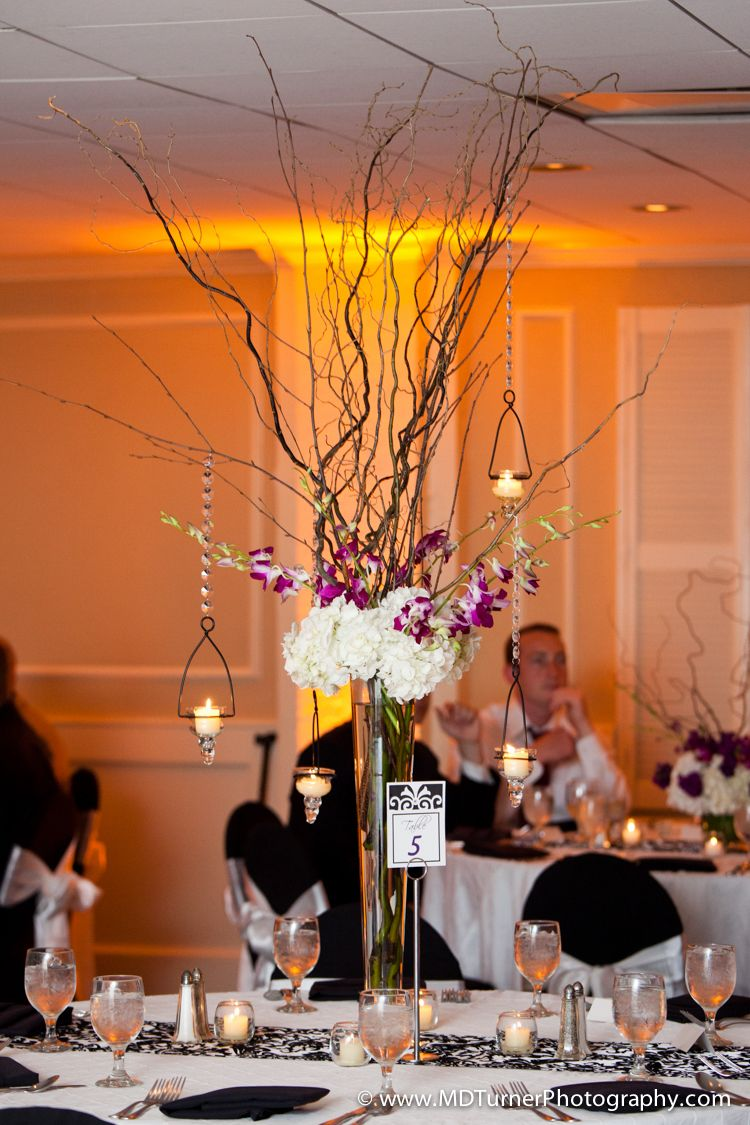 Fl Candle And Branch Centerpiece Houston Wedding Photography Md Turner