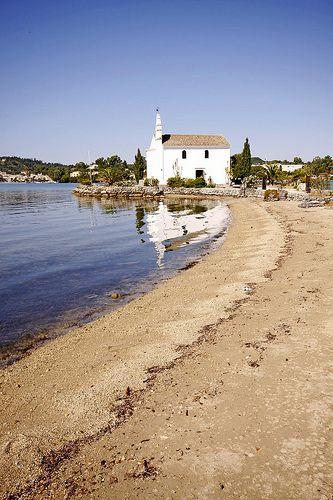 Ipanti Church at Gouvia bay, Corfu, Greece