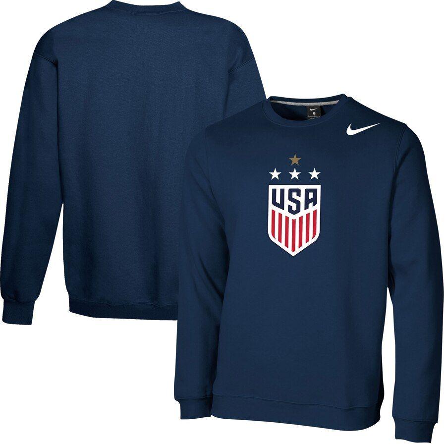 Uswnt Nike 2019 Fifa Women S World Cup Champions 4 Star Club Crewneck Sweatshirt Navy World Cup Champions Sweatshirts Crew Neck Sweatshirt [ 900 x 900 Pixel ]