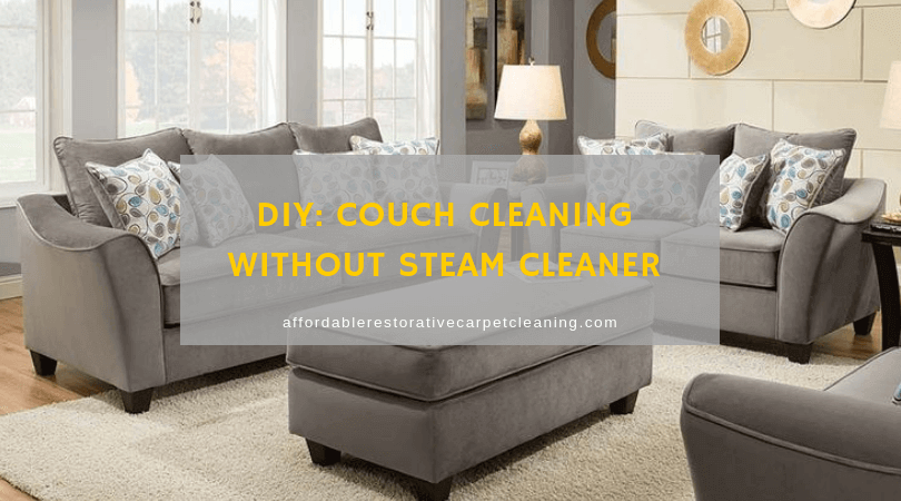 Diy Couch Cleaning Without Steam Cleaner With Images Clean