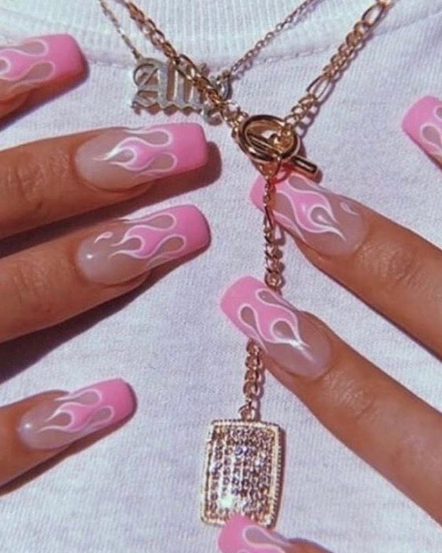 Nails 2020 Trends In 2020 Vintage Nails Fire Nails Pretty Acrylic Nails