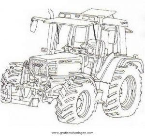fendt traktor gratis malvorlage in baumaschinen