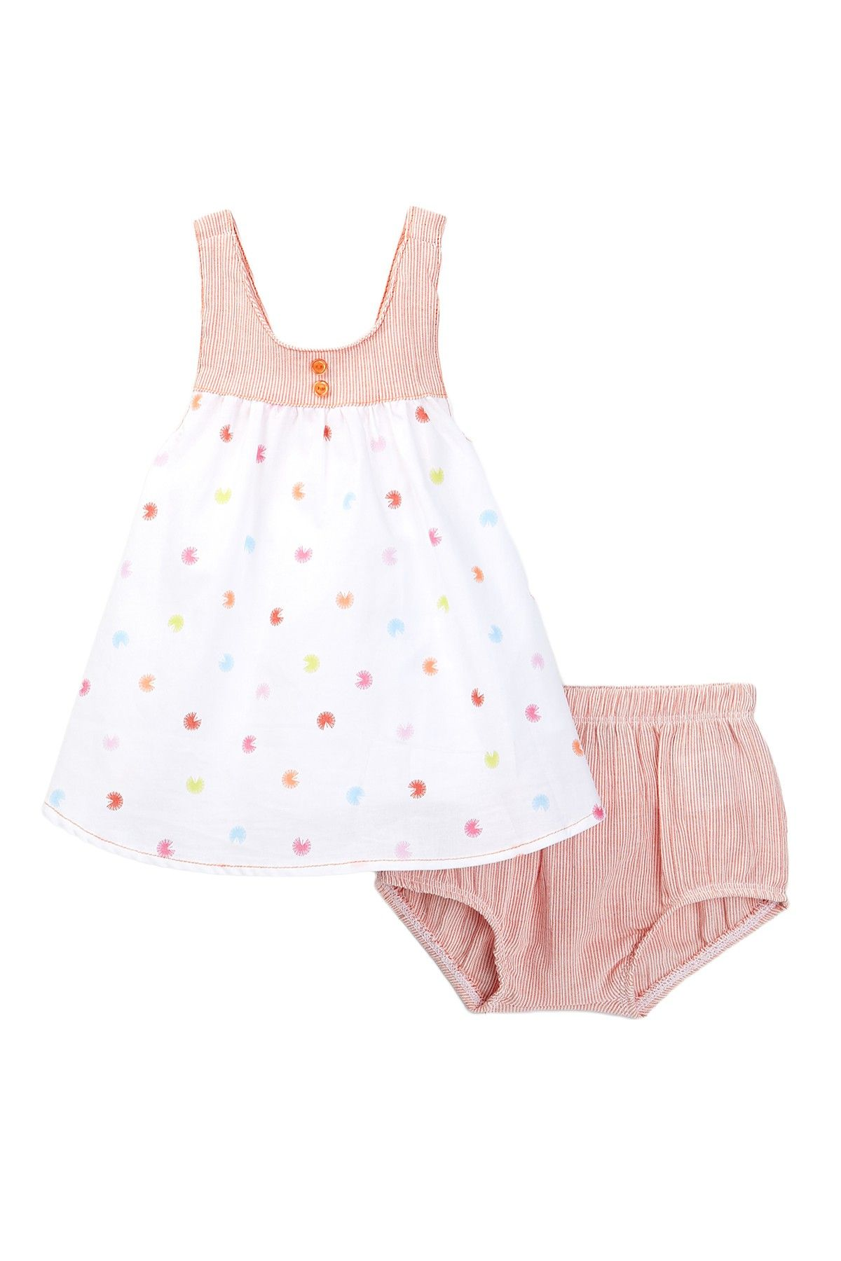 Embroidered Dress & Bloomer 2 Piece Set Baby Girls