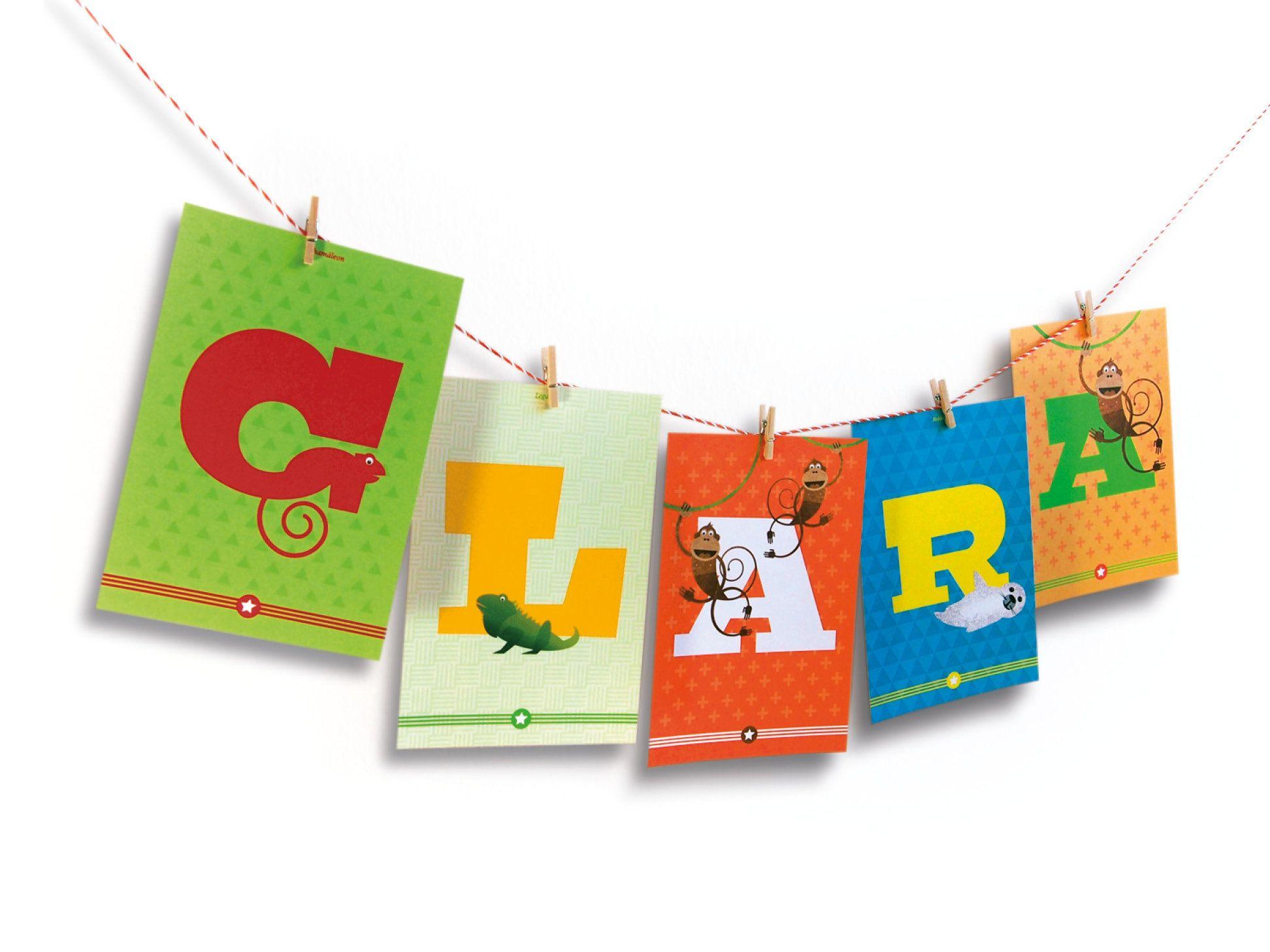 Mädchenvorname oder Jungenvorname mit 5 Buchstaben als Geschenk zur Geburt oder Taufe, personalisiertes Geschenk für's Kinderzimmer