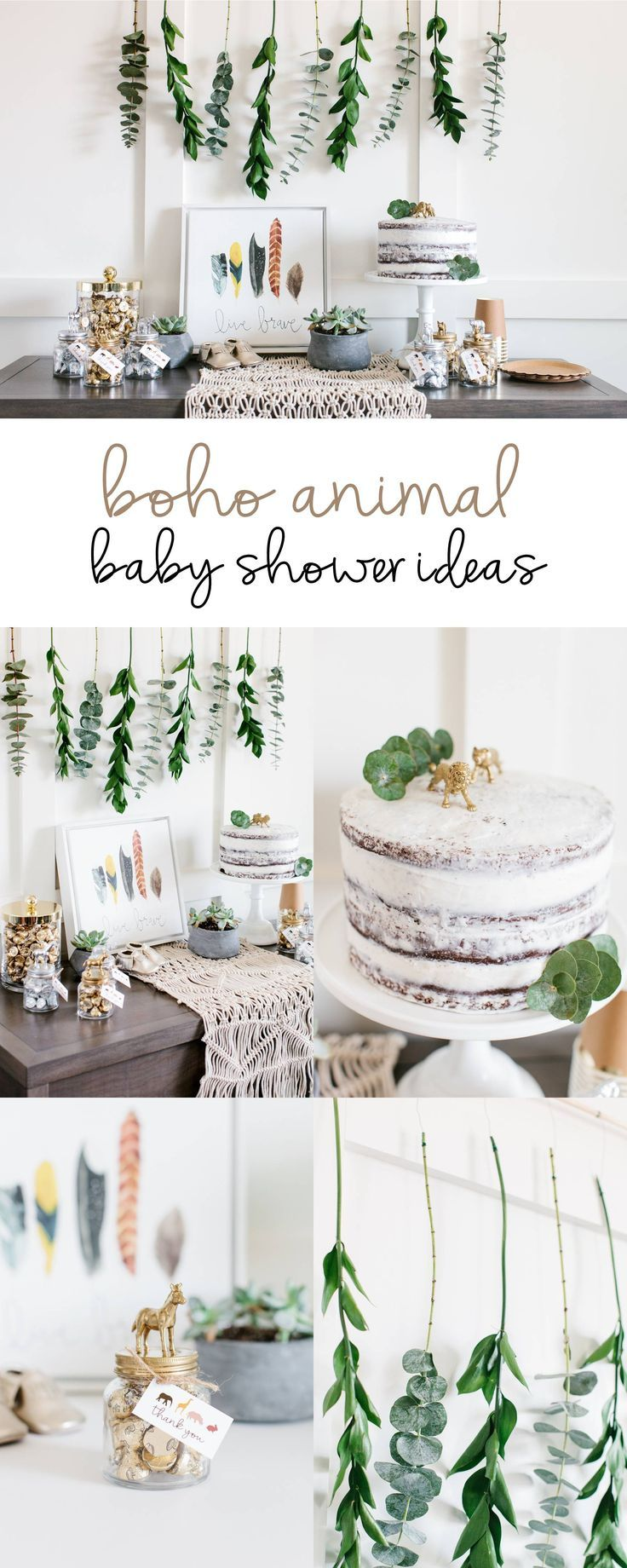 Gender neutral baby shower ideas pinterest - Boho Animal Baby Shower Ideas Styled By The Tomkat Studio