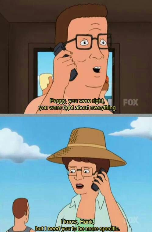 King of the hill. LMAO ~ Peggy. Wife Logic  b0255beb568