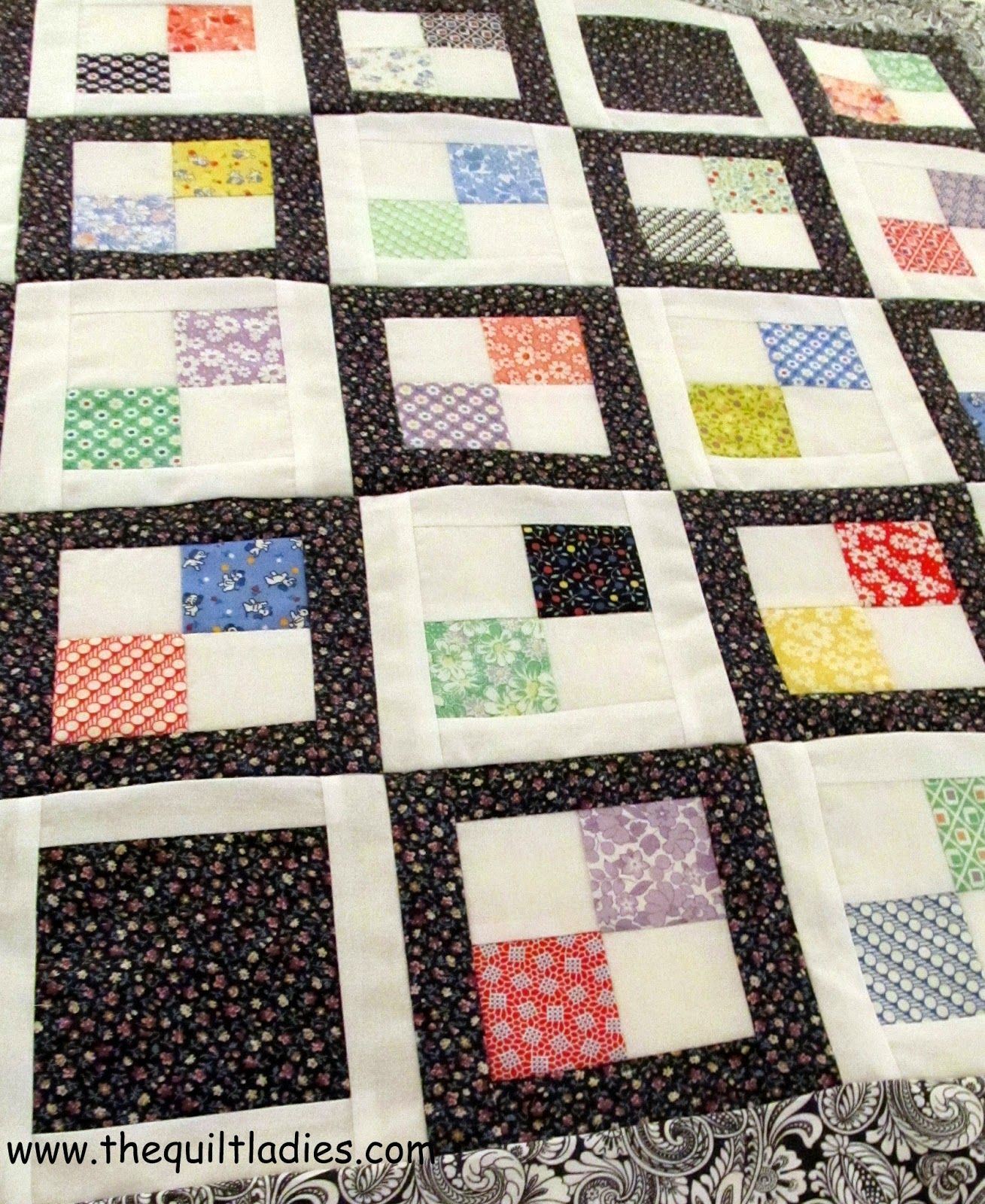 free pattern to make a Four Patch quilt top | Quilting | Pinterest ... : 4 patch quilt patterns free - Adamdwight.com