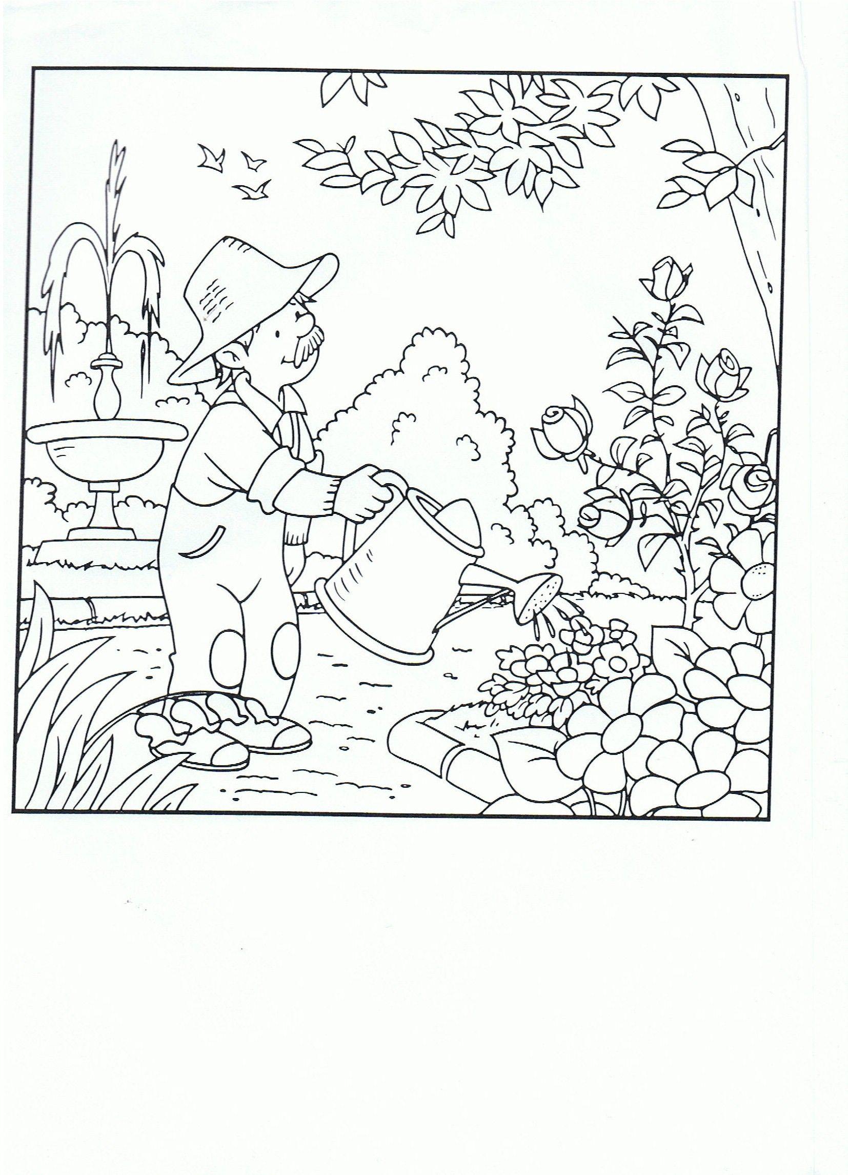 Pin Van Turkan Op Tuinen Thema Bloemen Winkels Kleurplaten