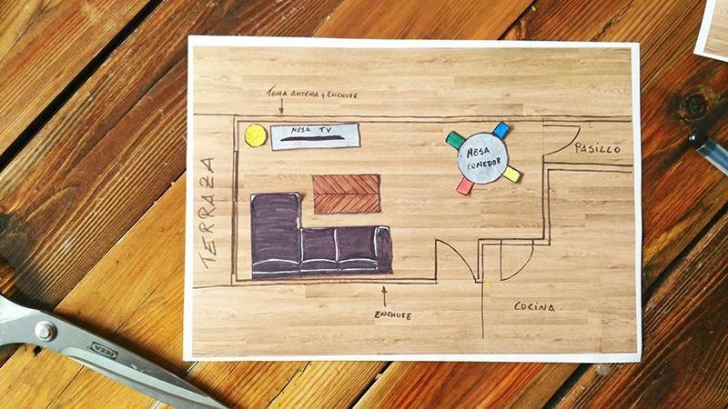Un plano en 2D para distribuir tu mobiliario