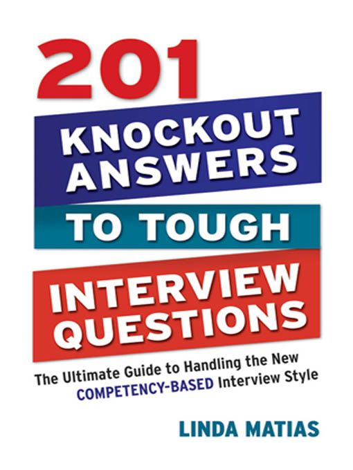 AMACOM eStore - 201 Knockout Answers to Tough Interview Questions - resume questions and answers