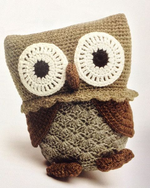 Picture Of Crocheted Wild Animals Crochet Owls Pinterest