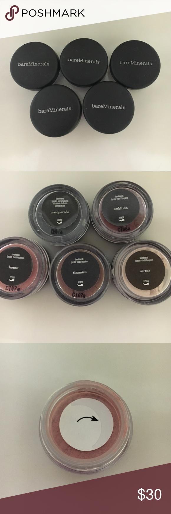 Bare Minerals set of 5 eyeshadows 5 brand new never opened Bare Minerals shades. Makeup Eyeshadow