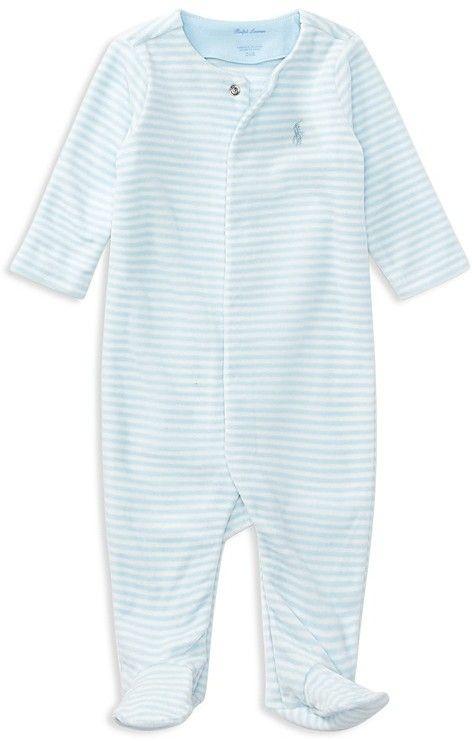 a59d57ba8 Ralph Lauren Boys' Striped Velour Footie - Baby | Baby | Ralph ...