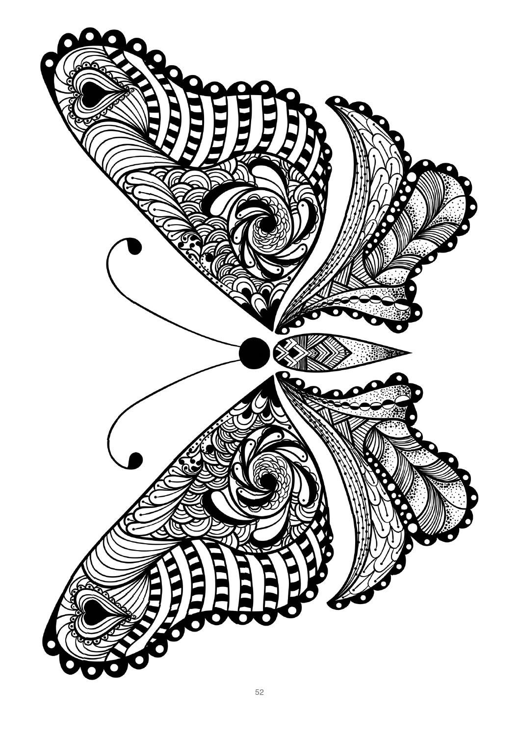 Mind Massage colouring book for adults | Butterfly ... | mandala coloring pages for adults animals