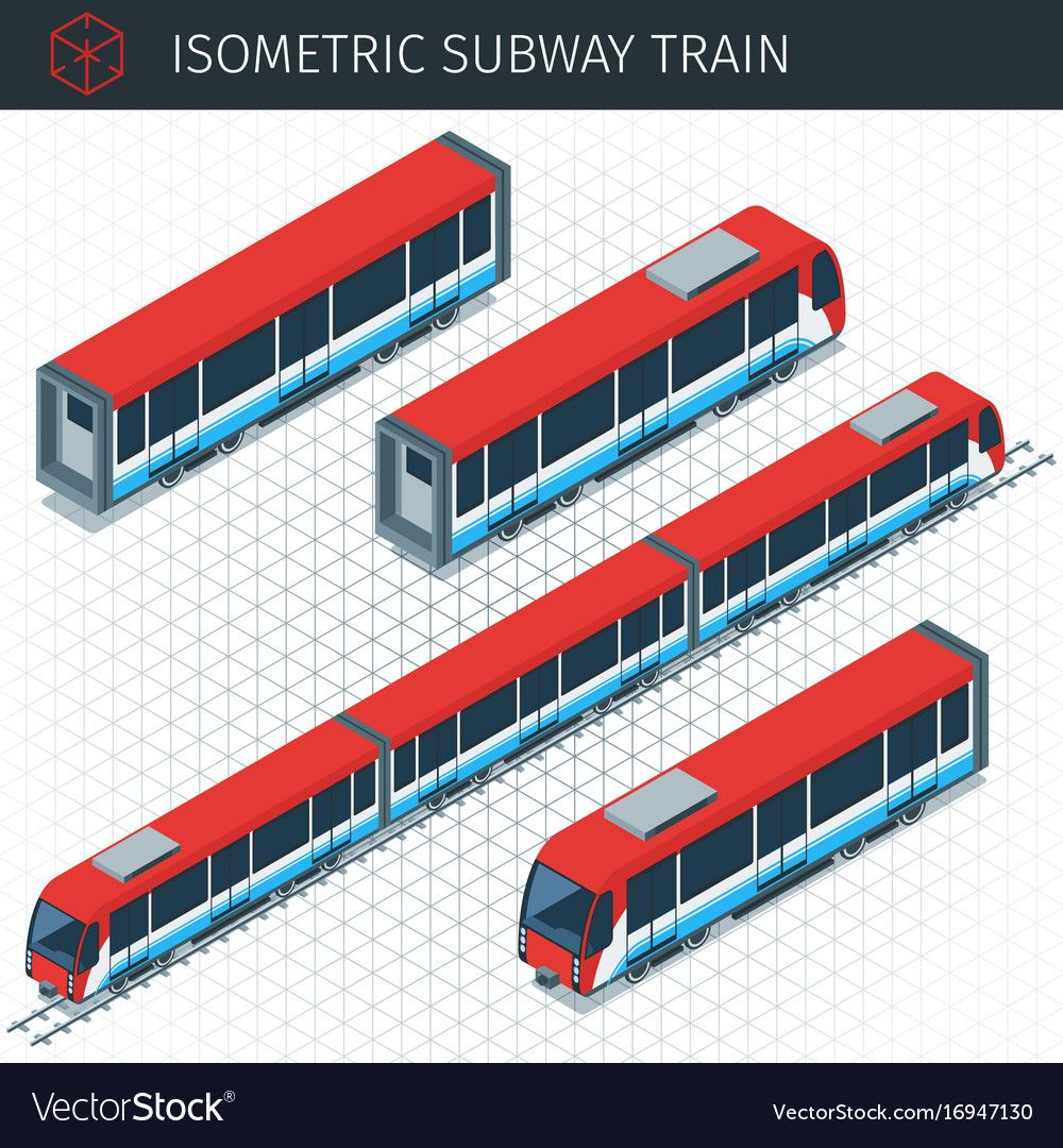 Isometric Subway Train Royalty Free Vector Image Train Vector Subway Train Isometric Illustration
