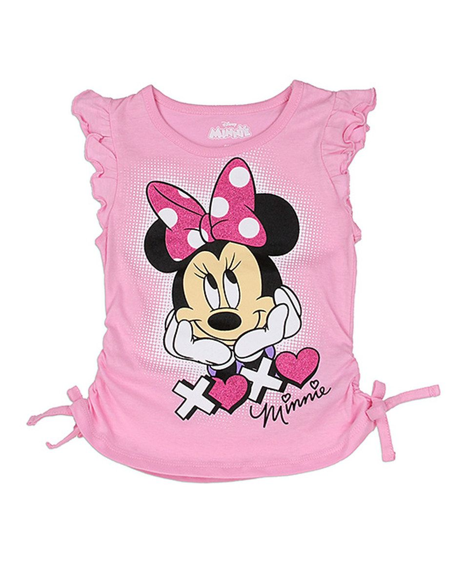 7b9081bc2614 Look what I found on  zulily! Pink Minnie Mouse Tee - Toddler   Girls by  Mickey Mouse   Minnie Mouse  zulilyfinds