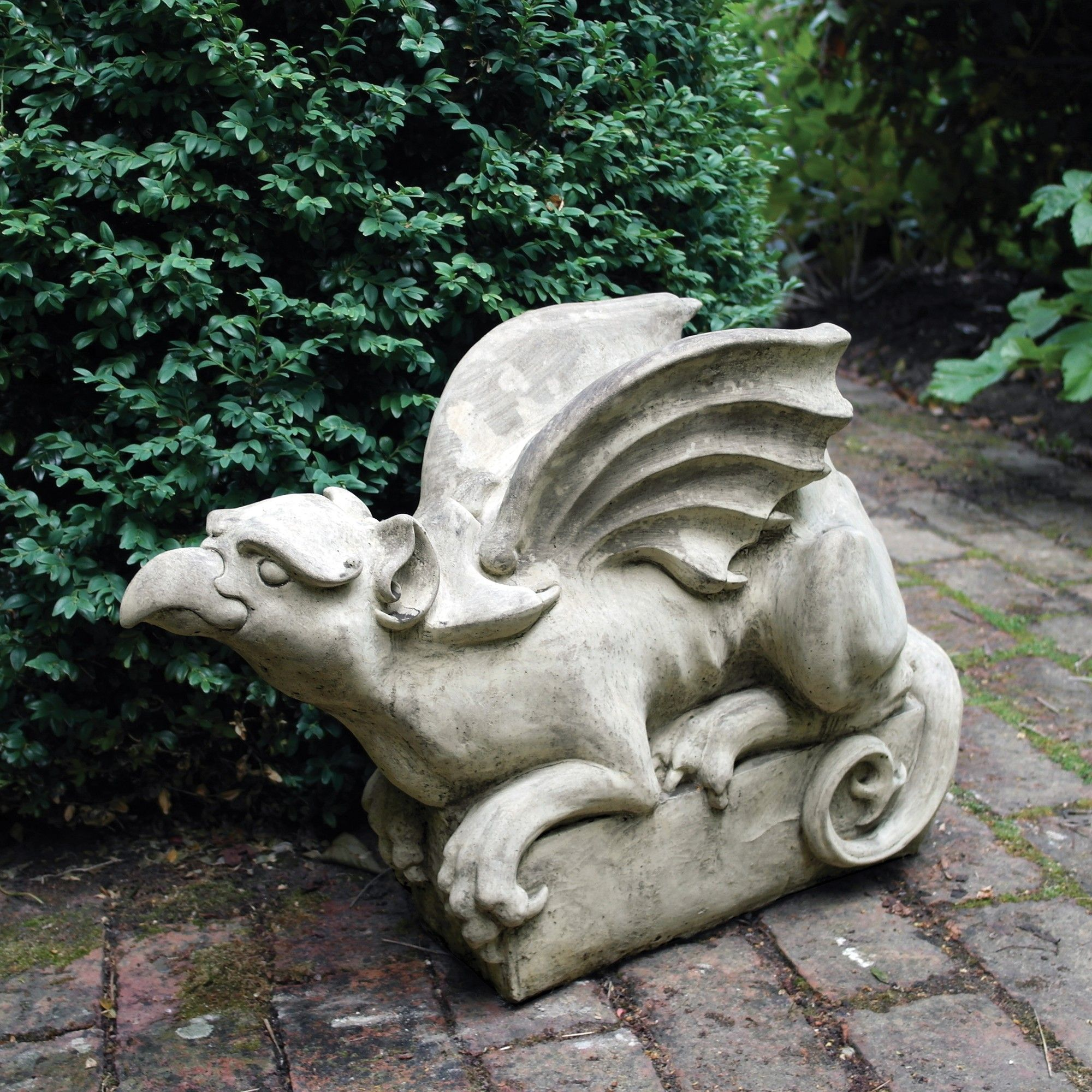 Gothic Griffin Stone Sculpture Large Garden Statue. Buy Now At Http://www