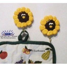 Sunflower Kitchen #Magnets , Fridge Magnets, Refrigerator Magnets, Potholder Magnets