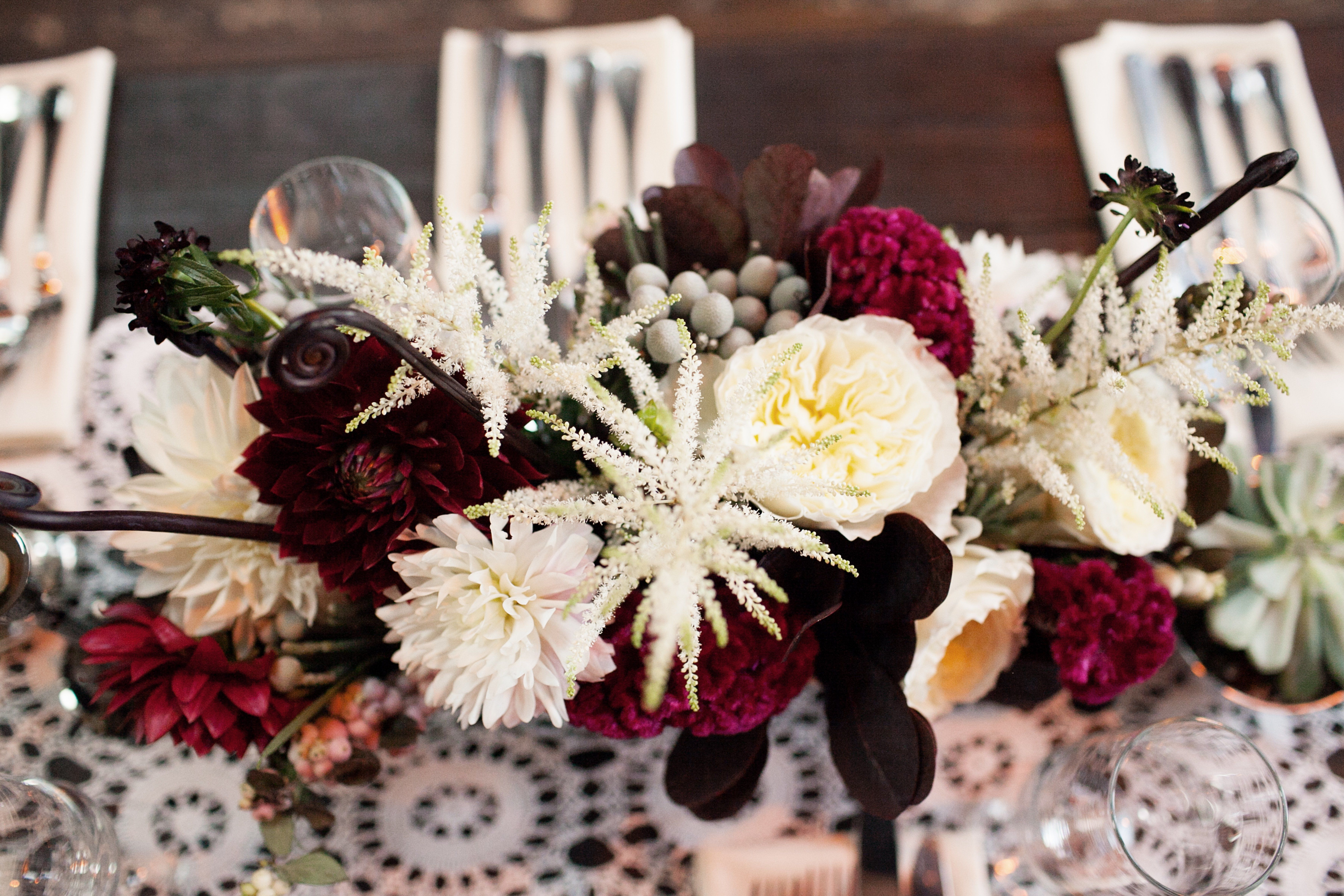 Red And White Floral Centerpiece Wedding Pinterest White
