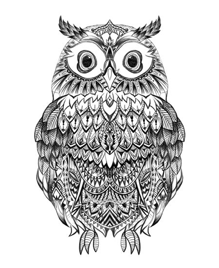 aztec owl coloring pages - photo#5