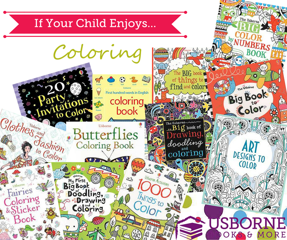 Usborne Books\' coloring books are like no others! They have coloring ...