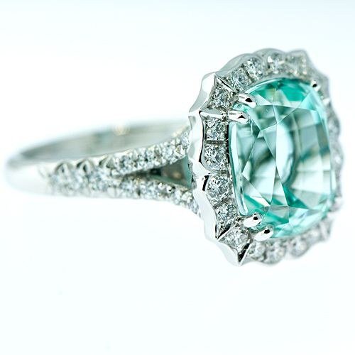 This may be the most gorgeous ring I have ever seen!! Blue tourmaline!! (This can be my engagement ring...LOVE)