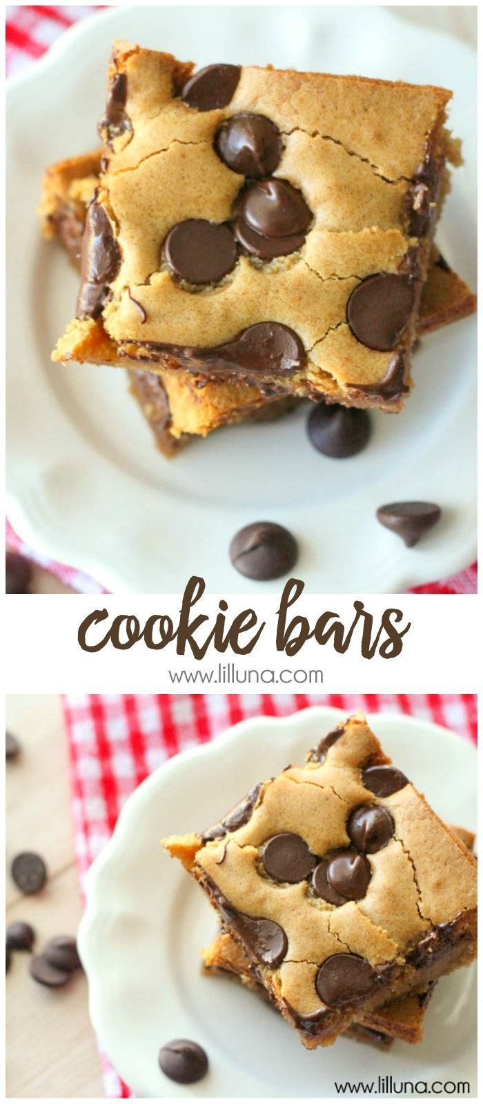 Chip Cookie Bars (aka Pan Chewies) - our family's go-to Sunday Night Dessert!Chocolate Chip Cookie Bars (aka Pan Chewies) - our family's go-to Sunday Night Dessert!
