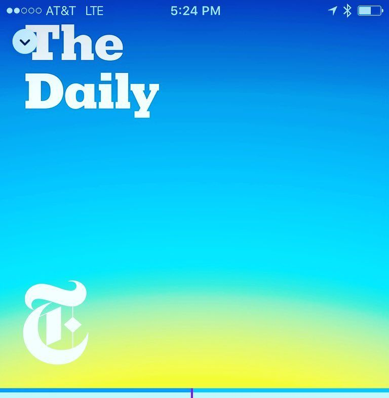 A great way to stay current on some topics. #newyorktimes #thedaily #podcastjunkie