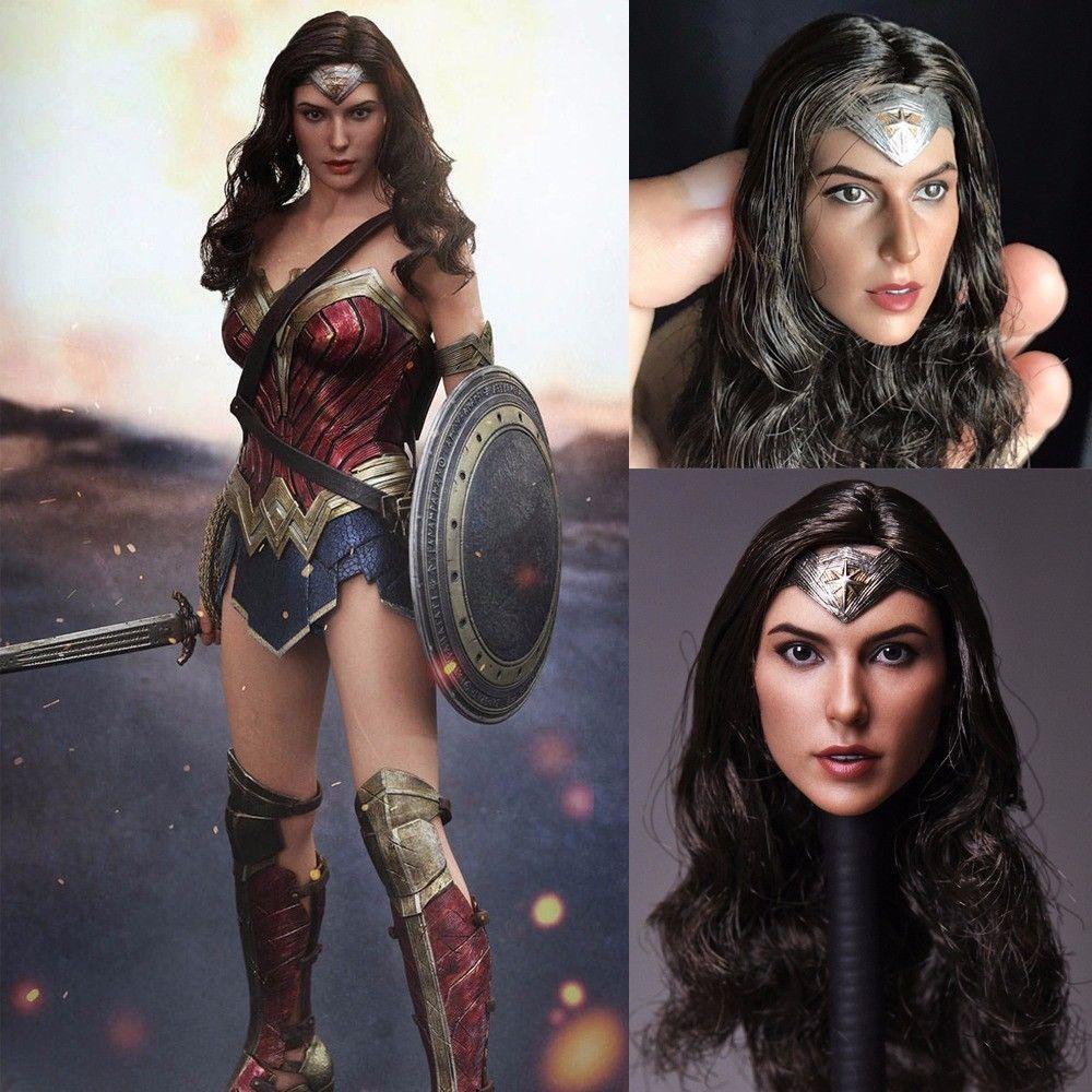 1//6 Gal Gadot Customized Head Sculpt for Hottoys Phicen Female Body Wonder Woman