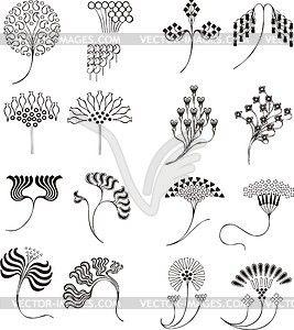 Einfache florale ornamente im jugendstil vektorisiertes for Ornamente jugendstil
