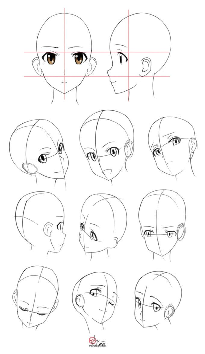 Studies Anatomy I By Https Theafn Deviantart Com On Deviantart Manga Drawing Manga Drawing Tutorials Anime Head