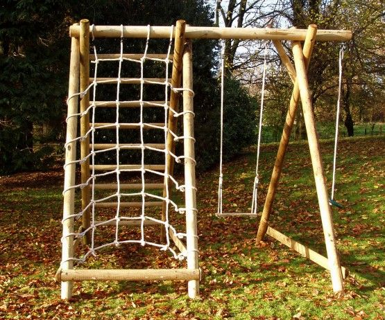 Single Swing Frame with Net Frame and Extension | Swings, Extensions ...