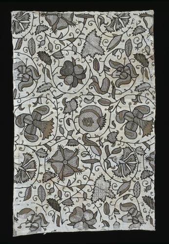 Panel, embroidered/sleeve; @1580; National Museums of Scotland, A ...