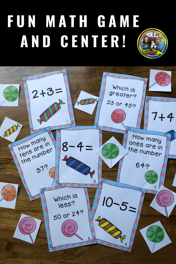 Math Game with Addition,Subtraction and Place Value | Pinterest