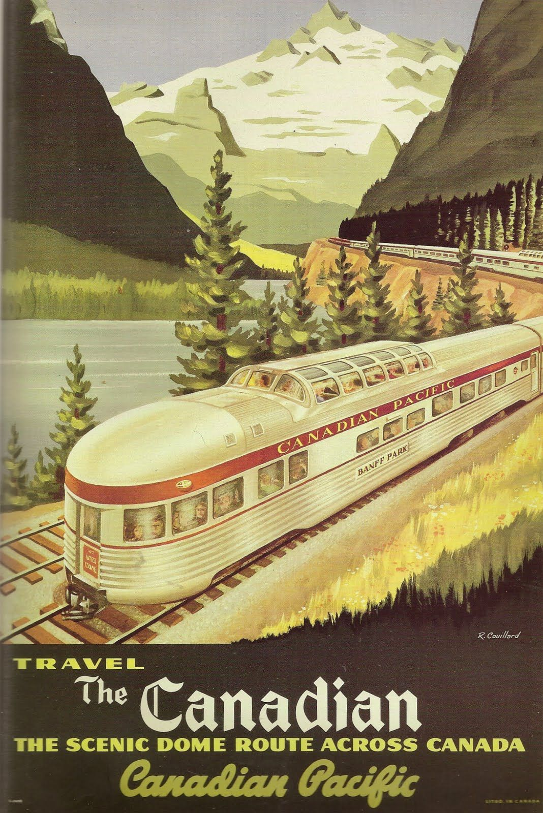 Canadian Pacific Vintage Canada Railroad Train Travel Advertisement Art Poster