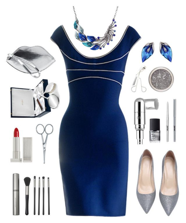 """Silver & Blue"" by nansg ❤ liked on Polyvore"