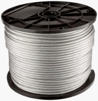 250ft Clear Vinyl Coated Steel Aircraft Cable Stainless Steel Wire Galvanized Steel Galvanized