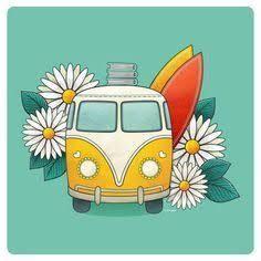 Resultado De Imagem Para Kombi Tumblr Desenho Camioneta Hippie