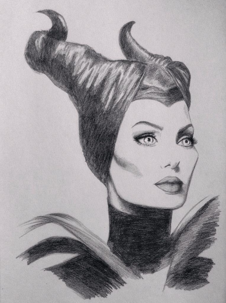 Disney Maleficent Sketch Angelina Jolie Drawing Disney