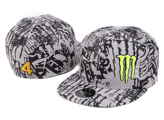 1d56cfc72ea Monster Energy Fitted Hats Grey Black 011! Only  8.90USD