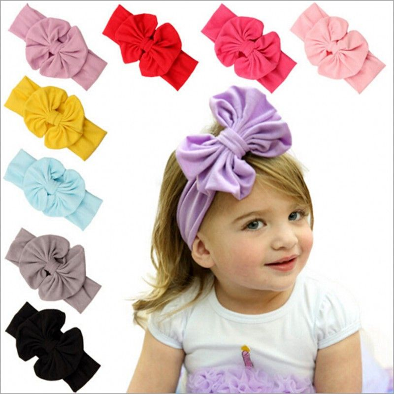 69d821688ae Click to Buy    Cotton children s butterfly hairband baby girls hairband  baby flower