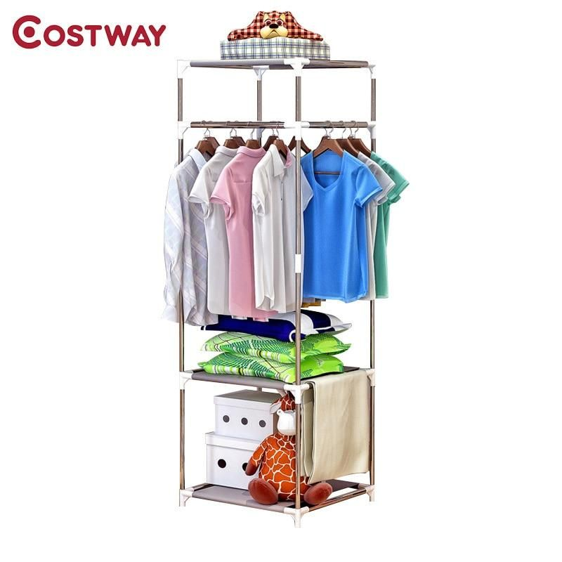 Brand Name Costwaymaterial Metalnumber Of Hooks 2general Use Home Furniture Clothes Drying Racks Hanger Storage Wardrobe Storage