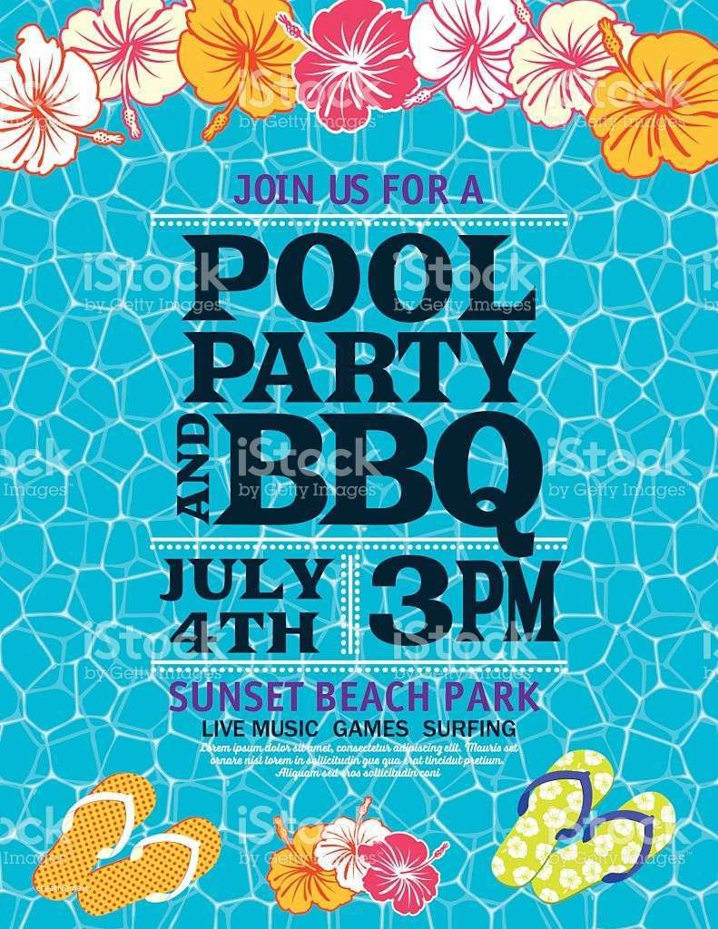 Inspirational Pool Birthday Party Invitations Templates Free Party