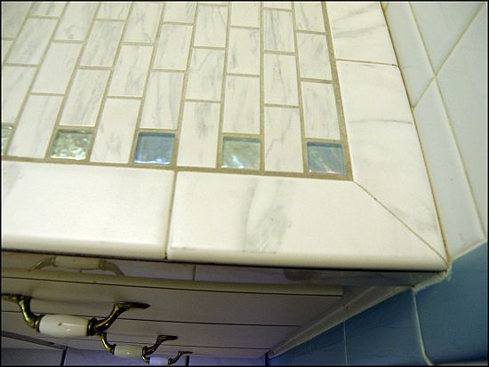 Tiling Over Laminate Countertops Bondera Tile Gather Diy Countertops Laminate Countertops Mobile Home Decorating