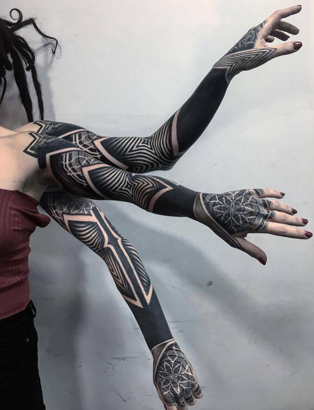 Ornamental tattoo by Daniele Lo Scritto
