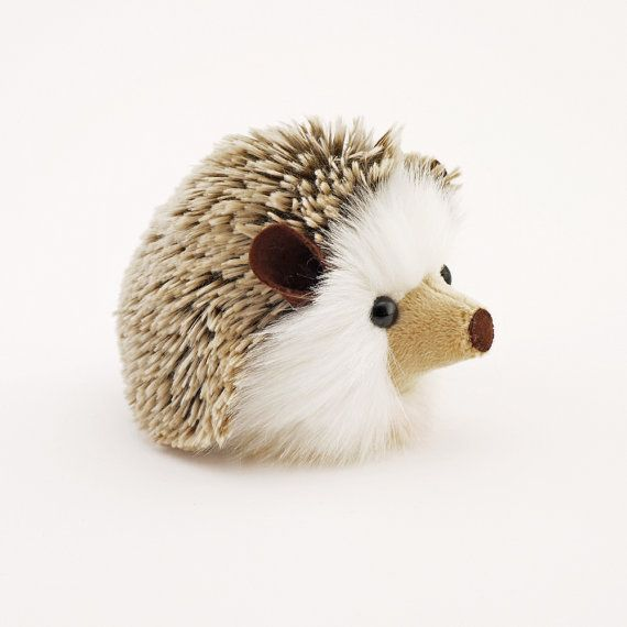 Stuffed Hedgehog Stuffed Animal Sebastian the Plush Toy Brown ...