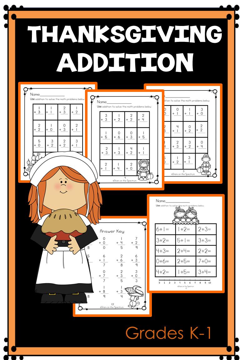 Thanksgiving Addition Worksheets K 1 Thanksgiving Addition Worksheets Thanksgiving Addition Addition Worksheets [ 1152 x 768 Pixel ]